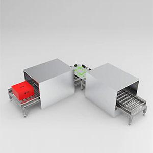 至善智能传送带式物品消毒系统,构建冷链消毒安全屏障